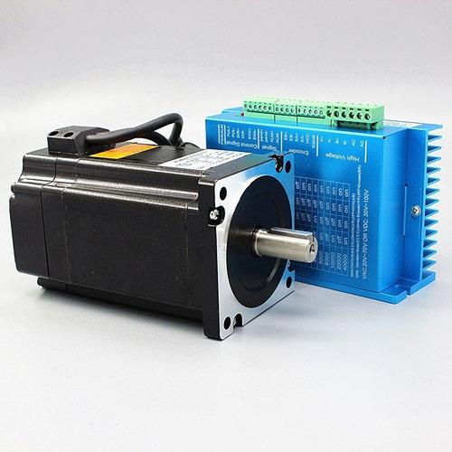 motor paso a paso nema 34 8.5 nm c/encoder 1200 onz/in