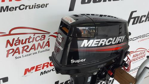 motor popa mercury 15 hp super novo 2018 com frete grátis