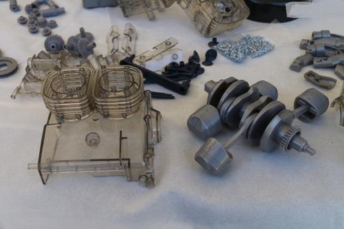 motor porsche 356 carrera boxer miniatura escala 1:3 franzis