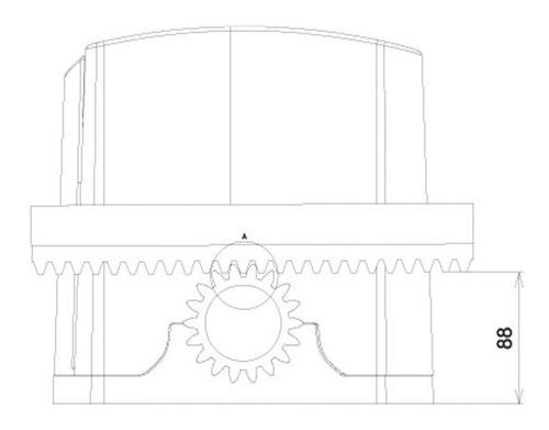 motor portão dz rio 400 crem.,destr. c/segredo (z18) ppa