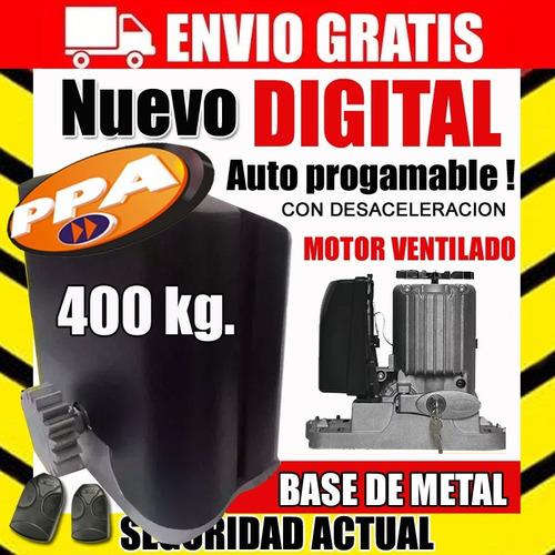 motor  porton corredizo ppa digital 400kg auto programable