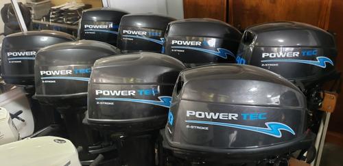 motor power tec 30 hp arranque electrico nautica milione