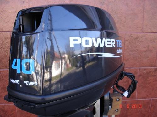 motor power tec 40 hp arranque manual en stock  permutas!