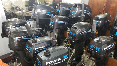 motor power tec 40 hp arranque y power trim electrico full!!