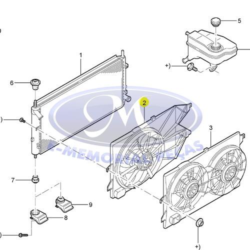 motor radiador peca