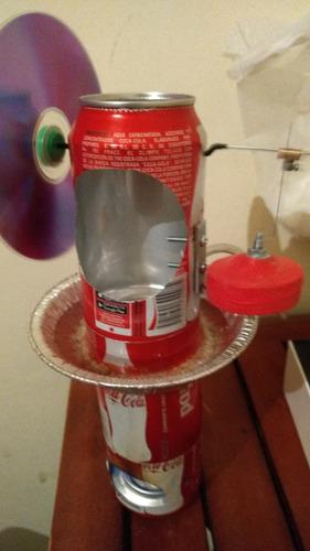 motor stirling de lata, adorno, educacional, nuevo