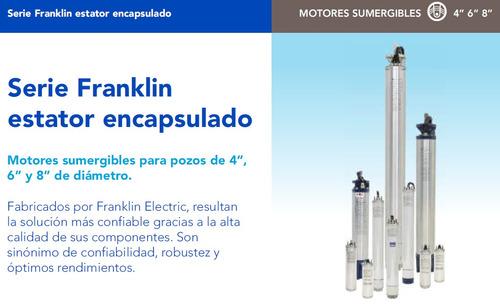 motor sumergible trifásico franklin 4pulg. 4hp