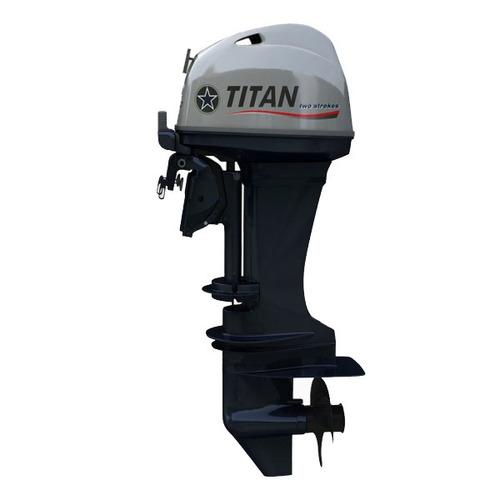 motor titan 40 hp 2t pata larga arr. electrico powertrim
