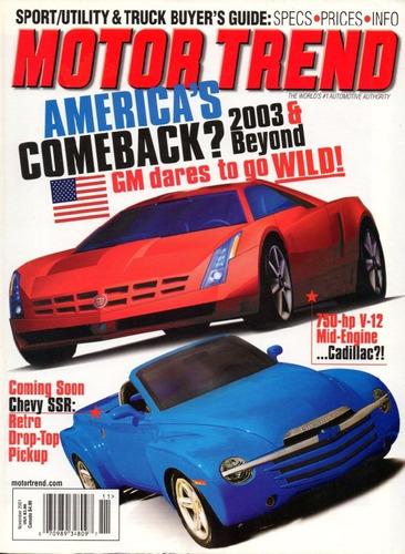 motor trend nov/2001 chevrolet ssr pick-up sport utility