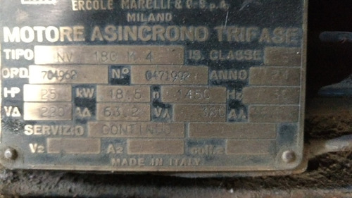 motor trifásico 25hp 1450 rpm