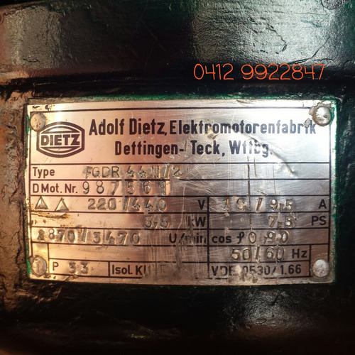 motor trifasico 7.5 hp