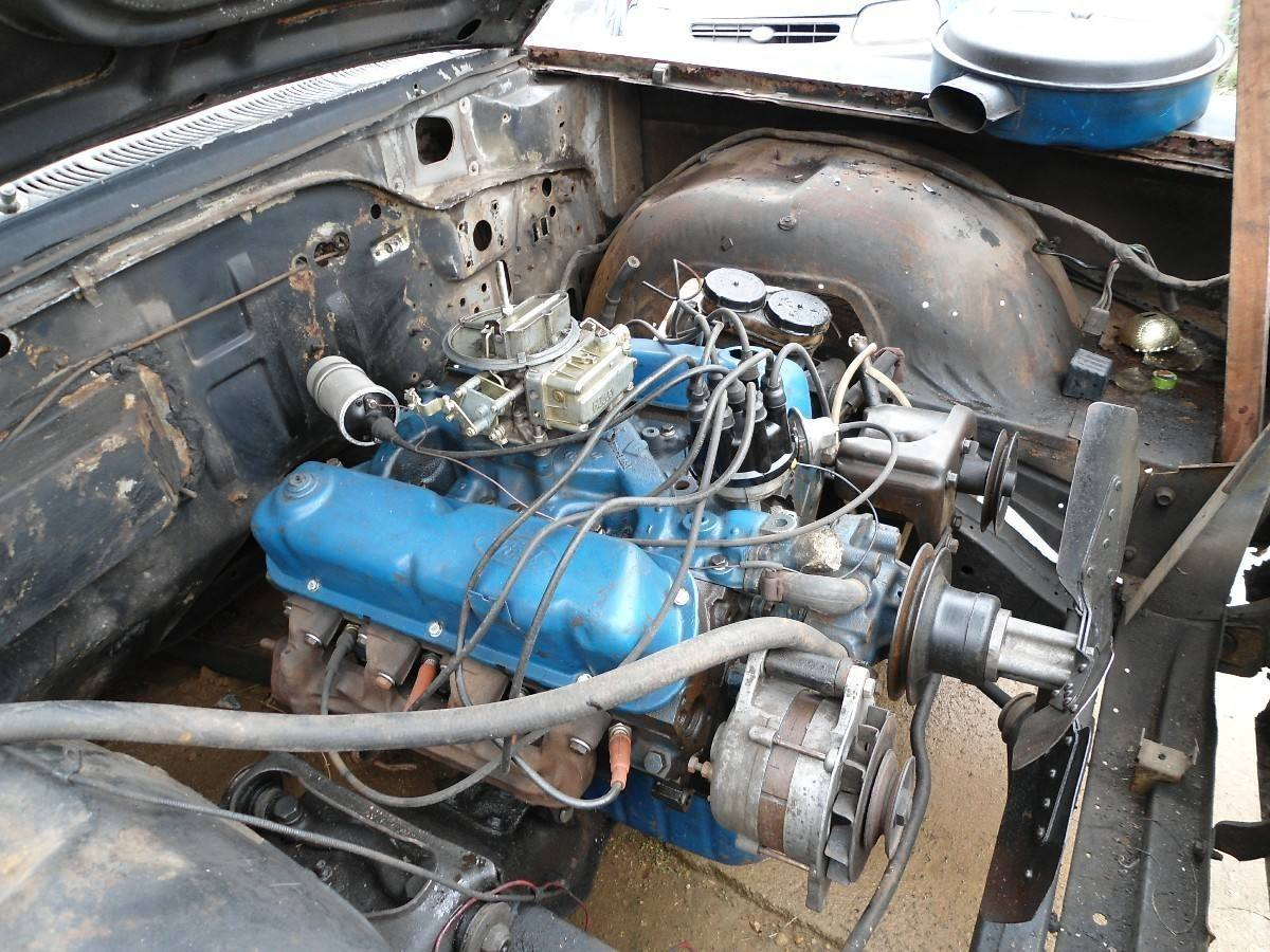 Ford Engine Painted Blue