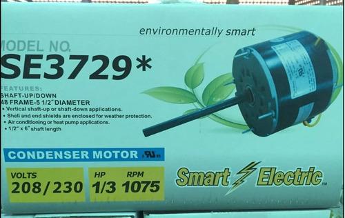 motor ventilador 1/3 hp 1075 rpm 220v 1 eje nuevo a estrenar