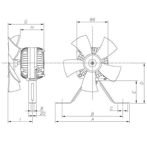 motor ventilador 1  40 elgin para freezer  balc u00e3o 110