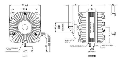motor ventilador 18w 1eje 115v 1550rpm cnr-3934