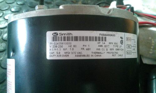 motor ventilador aire acondicionado 230 v 1/4hp