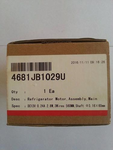 motor ventilador nevera l.g n° parte : 4681jb1029u