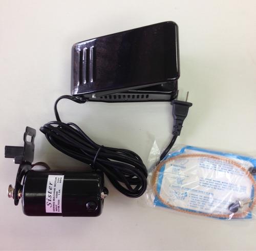 motor y pedal universal para máquina de coser domestica