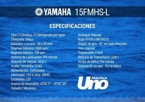motor yamaha 15 hp 2 tiempos - rosario