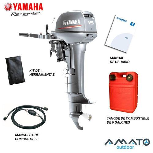motor yamaha 15 hp 2t 15fmhl pata larga 3 años de garantia