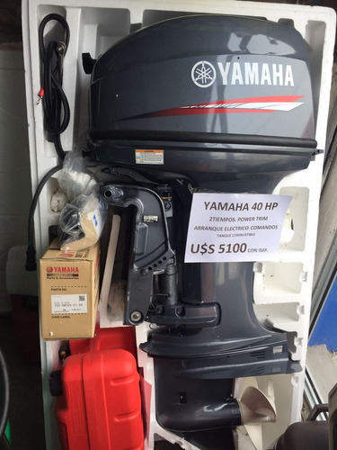 motor yamaha 40 hp con comandos y power trim