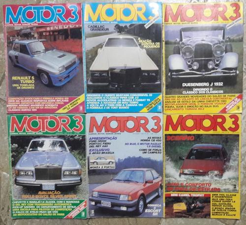 motor3 - 6 revistas integras a r$ 23,00 cada uma.