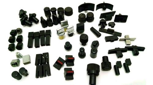 motoradio botão knob kit 60 mini botões radio usados b16