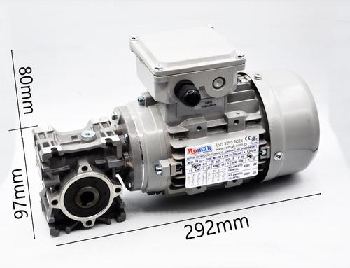 motoredutor  q30 1/25 c/ motor trifásico 1/4 cv romak