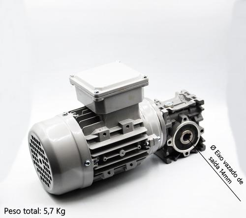 motoredutor q30 c/ motor trifásico 1/4 cv - redução 1/20