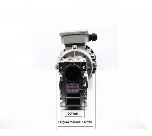 motoredutor q40 1/20 c/ motor 1/2 cv trifásico  romak
