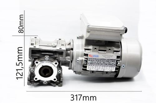 motoredutor q40 1/25 c/ motor monofásico 1/2cv  romak