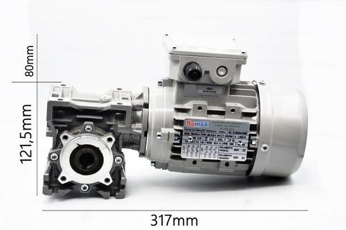 motoredutor q40 1/50 c/ motor trifasico 1/3 cv  romak