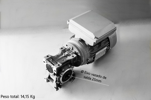 motoredutor q50 1/15 c/motor 1 cv monofásico romak