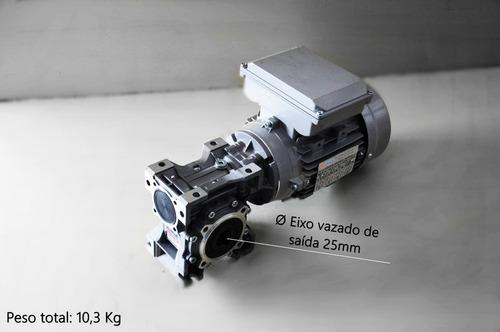 motoredutor q50 c/ motor monofásico 1/2 cv - redução 1/50