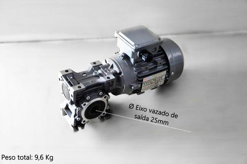 motoredutor q50 c/ motor trifásico 1/2 cv - redução 1/50