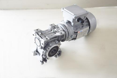motoredutor q50 c/ motor trifásico 1/4 cv - redução 1/100