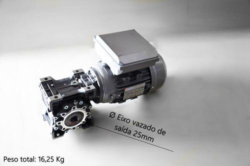 motoredutor q63 1/40 c/ motor 1 cv monofásico romak