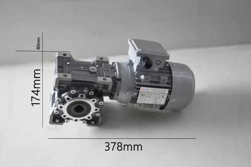 motoredutor q63 1/60 com motor 1/2 cv trifasico romak