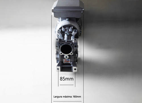 motoredutor q63 c/ motor monofásico 1 cv - redução 1/40