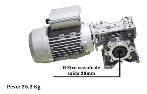 motoredutor q75 1/40  90b14 c/ motor 2cv monofásico