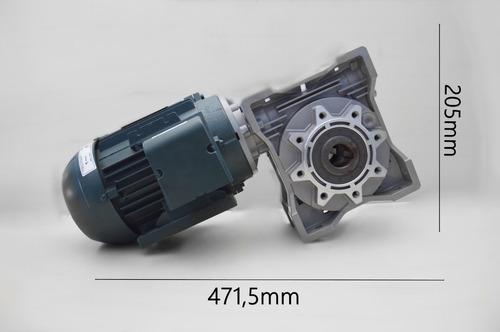 motoredutor q75 1/40  90b14 c/ motor 2cv trifásico romak