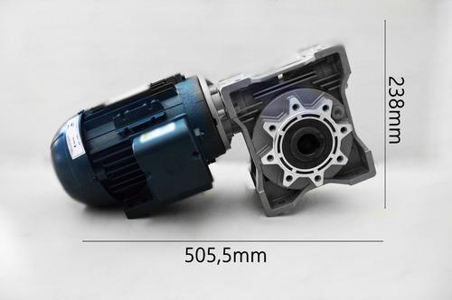 motoredutor q90 1/40  c/ motor 3cv trifásico romak