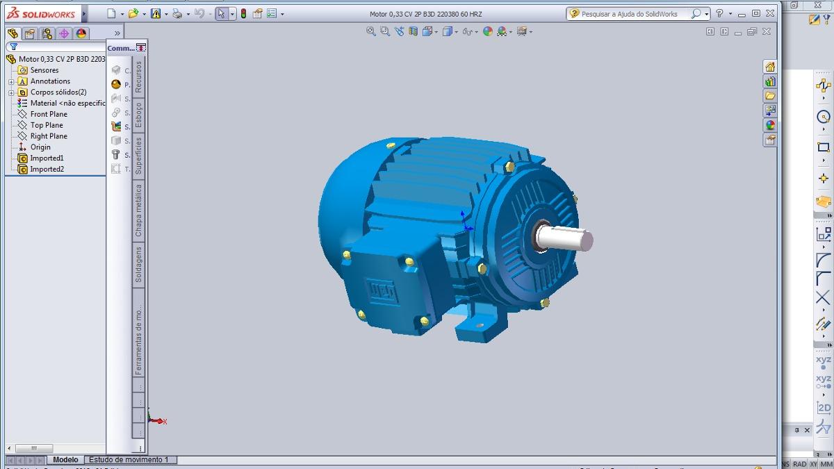 0205cb5c027 motores elétricos solidwork projeto pronto. Carregando zoom.