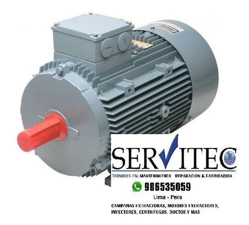 motores extractores centrífugos inyectores