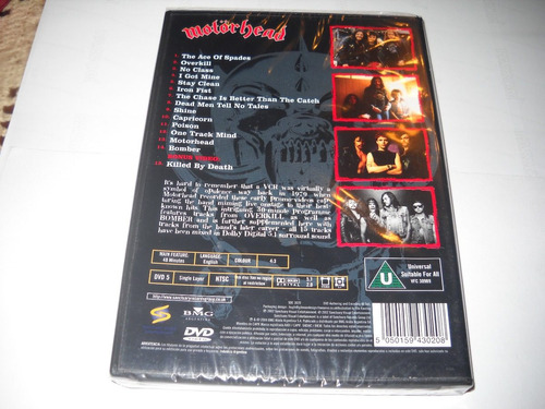 motorhead - the best of motorhead, dvd original, nuevo.