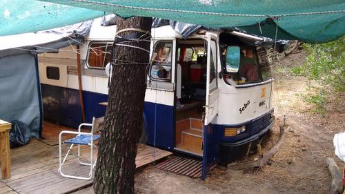 motorhome con rampa, instalado camping mar azul