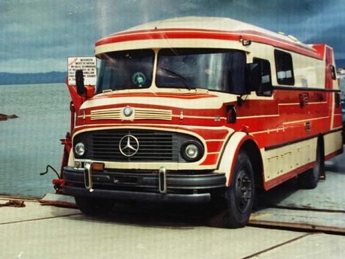 motorhome mercedes-benz 1114 1970 unico///