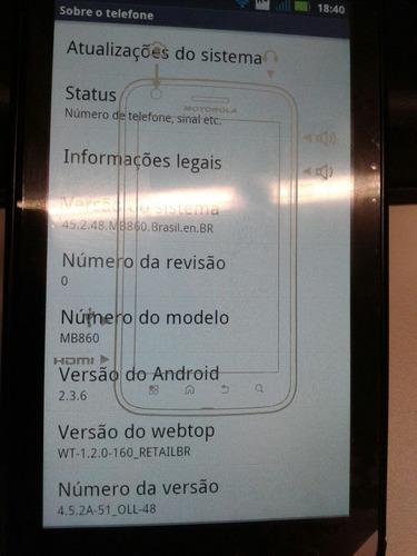 motorola atrix - atualização android 2.3.6
