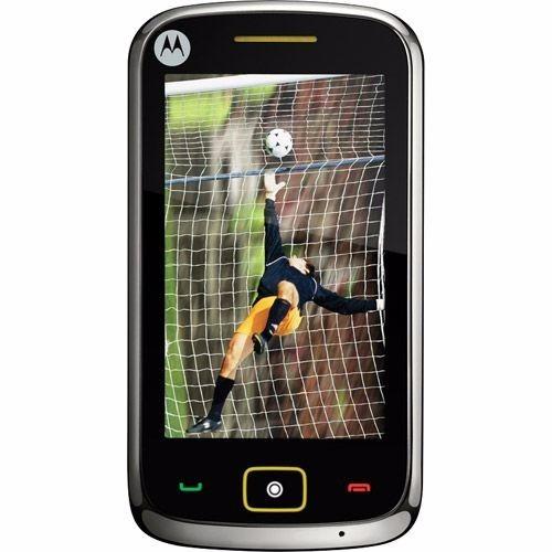motorola ex245 tv mobile television touch mp3 fm celular tv