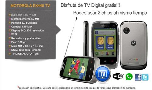 motorola ex440 dual sim tv digital celular fm garantia tda